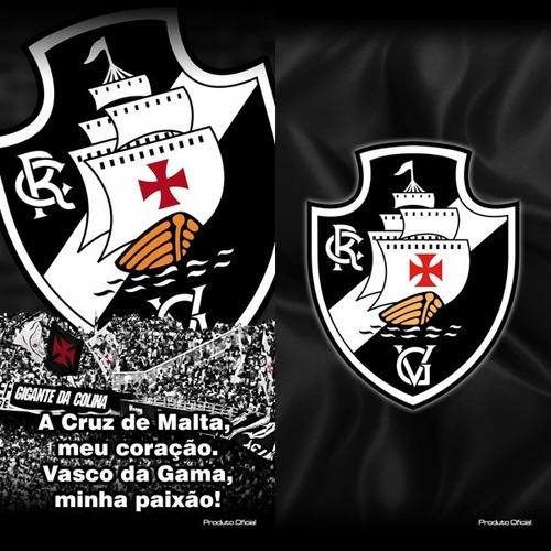 fa5b056d50 Total! 02 Toalhas Banho picina Futebol Vasco Oficial. - R  129