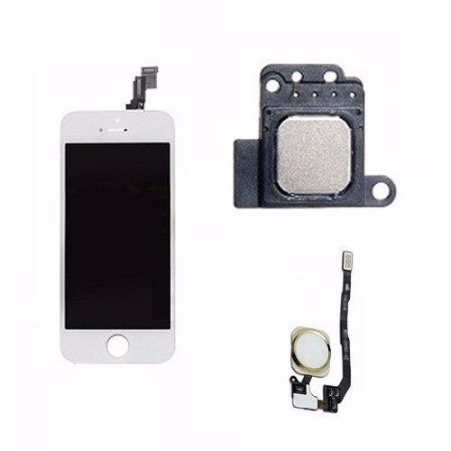 cead35ea834 Frontal + Botão Home Alto Falante Auricular Apple iPhone 5s - R$ 173,00 em  Mercado Livre