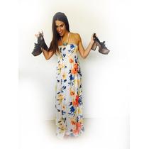 Indira Vestido Informal Largo Formal Strapless Colores Todos
