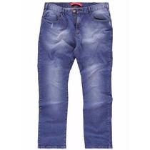 Calça Jeans Plus Size - Masculina ( Roupa Cor Azul )