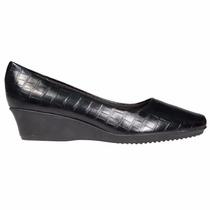 Zapato Clasico Mujer Piccadilly Taco Chino Sintetico Negro