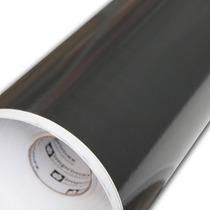 Envelopamento Adesivo Preto Black Piano 1,00m X 17cm