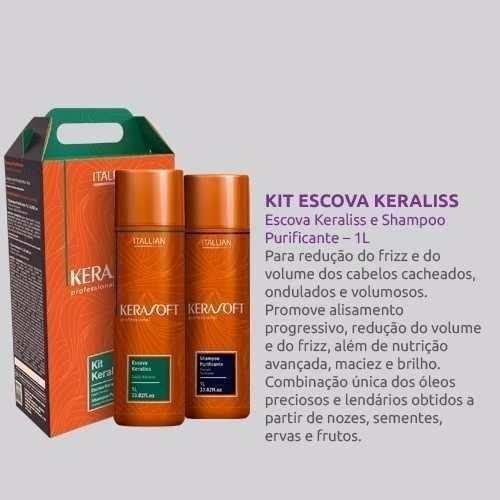 f64937205 Escova Progressiva Kerasoft Keraliss 2 Kits - R$ 540,00 em Mercado Livre
