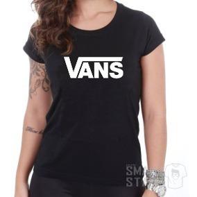 4df493b6dd8 Camiseta Vans Feminina Preta Original - R  89