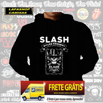 Blusa Moletom Slash Guns Roses Capuz Bolso Banda Camisa Frio