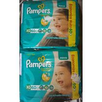 240 Fraldas Pampers Total Confort Mensal Tamanho Xg - 4 Pcts