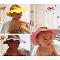 Chapéu Protetor Para Banho Bebe Olhos Lavar Cabelo Criança