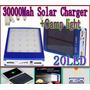 Cargador Solar Led Iphone Samsung Bateria Power Bank 30000ma