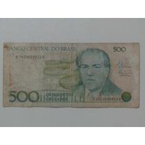 Notas, Cédulas, Dinheiro Antigo - 500 ( Quinhentos Cruzados)