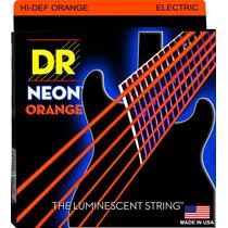 Jogo De Cordas Dr Strings Neon K3 Coloridas Laranjas 09