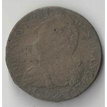 França 2 Sols Luis Xiv Bronze Escassa Ano 1892