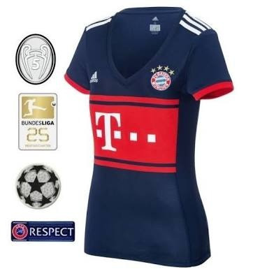 bb83b9d38f Camisa Bayer Third Bayern De Munique Feminina - R  110
