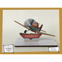 Souvenir Aplique Personaliza Madera 10cm Disney Aviones Cars