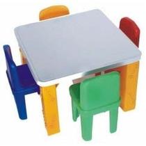 Mesa Infantil De Plastico Com 2 Cadeiras - Para Crianças