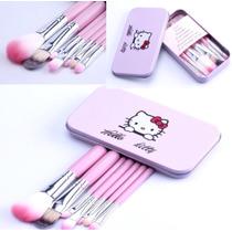 Kit Pincéis Para Maquiagem Hello Kitty Sanrio