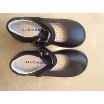 Zapatos Cuero Negro Guillerminas Colegio Velcro
