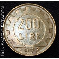 Moneda 200 Liras Italia 1978