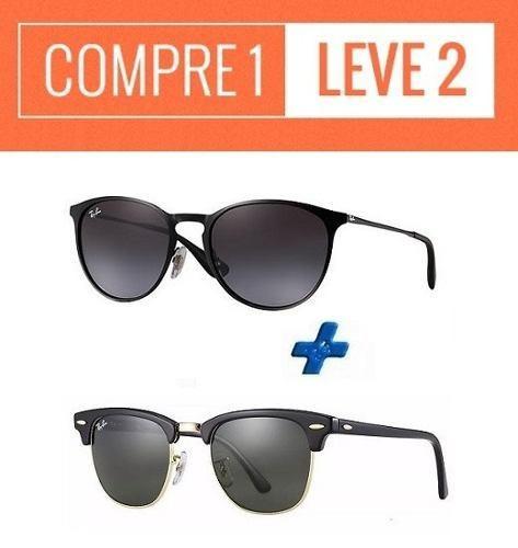 Oculos Sol Ray Ban Erika + Rb Clubmaster   Compre 1 Leve 2 - R  279,00 em Mercado  Livre 40c2b5d13b