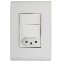 Conjunto Tramontina Liz 3 Interruptores Simples Ou Tomada