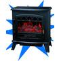 Calefactor Hogar Electrico Estufa Fuego Leña Clever Fps1800