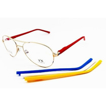 Armação Para Óculos De Grau Aviador Troca Hastes