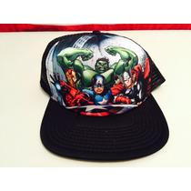 Gorra Marvel Advengers 2014 Para Adulto Ajustable Nueva