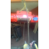 Polipastos Electricos De Cable De 1,2,3,5 Y 10 Tons Uso Rudo