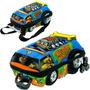 Kit Mochila 3d Maxtoy Scooby-doo Turbo Universo Infi.+brinde