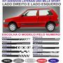 Acessorios Fiat Uno Mille Way 2 E 4 Portas Kit Adesivos