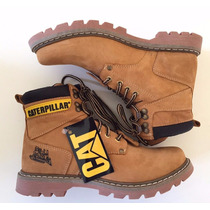 Bota Coturno Caterpillar Couro Masculino Cat Steel Toe Sapat