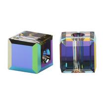 Cuentas Cristal Swarovski 4mm, Cubo 5601, Mediano Vitral