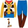 Pijama Niños Woody Vaquero Toy Story Tipo Disfraz + Obsequio