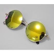 Óculos Espelhado Redondo Feminino E Masculino Barato