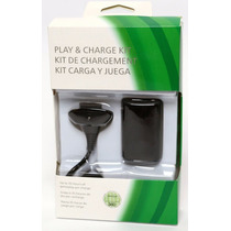 Kit 2 Carregador E 2 Bateria P Contr Xbox360 Até 35h Jogando