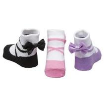 Bebé Emporio-3 Pr Baby Girl Calcetines-0-9 Bolsa Mos-regalo