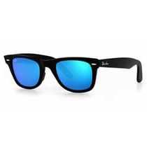 Anteojos Sol Ray Ban Rb2140 Wayfarer Azul Espejados Original