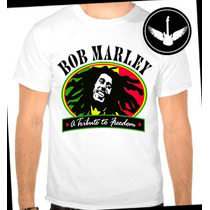 Camiseta Bob Marley Ou Baby Look Camisa Blusa Reggae
