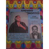 Amparo Montes Y Sus Canciones Lp Sola, Amor De Ayer. 1984