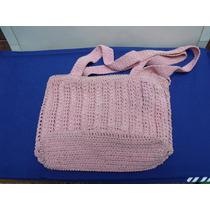 Cartera Rosa Tejido Crochet - Vintage