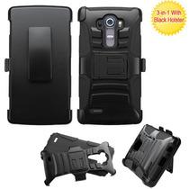 Clip Dual Protector Mixto C/pie Lg G4 Negro