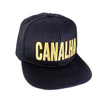 Boné Canalha Aba Reta Snapback Bordado Chapéu ¿
