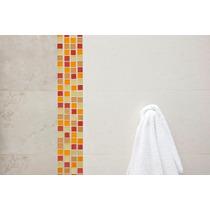 Malla Mosaico Cocina Baño Cristal Naranja Tendenzza