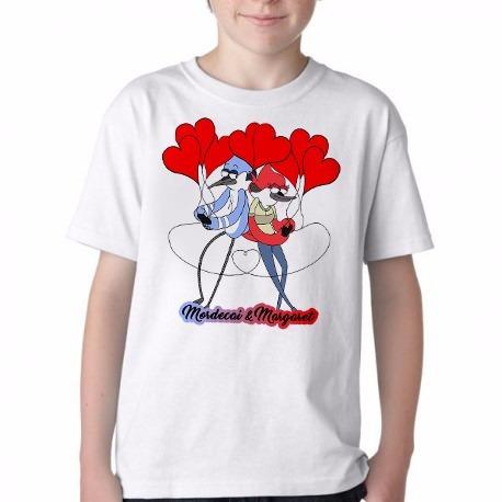 abb1ca9728 Camiseta Blusa Infantil Apenas Um Show Mordecai E Margaret - R  39 ...