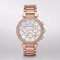 Reloj Michael Kors Rose Gold Glitz Parker Mk5491 | Watchito