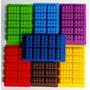 Kit De 5 Moldes Bloques Lego Para Hielos Chocolate Gomitas