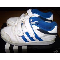 Zapatillas Adidas Footbal / Soccer De Cuero Blancas Original