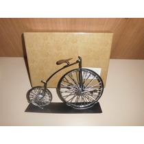 Miniatura De Bicicleta Rerto Vintage Fione 24x17cms Em Ferro