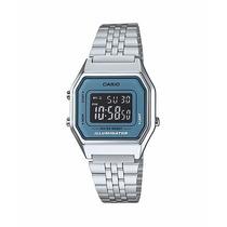 Reloj Casio La680 Plata De Moda Retro