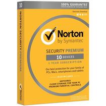 Norton Security Premium 2016 1 Año Hasta 10 Dispositivos