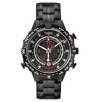 Relógio Timex Iq Bussola, Tabua De Mare, Temperatura T2p140
